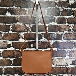 Coach Purse Vintage Leather Patricia Legacy Saddle